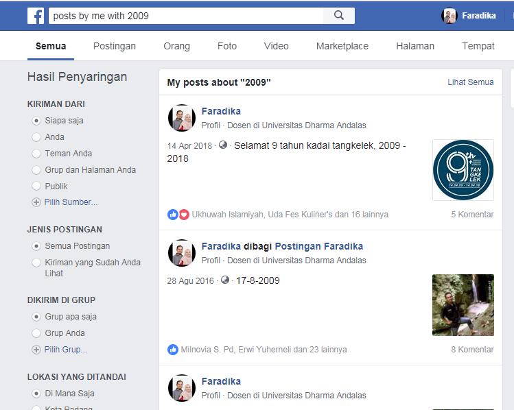 cara mencari foto lama di facebook