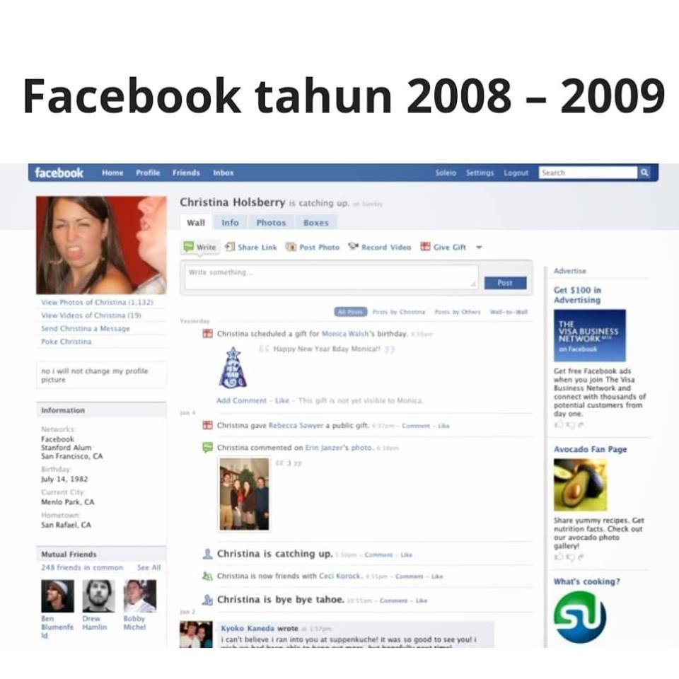 facebook zaman 2008