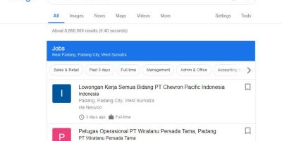 pencarian lowongan kerja di google